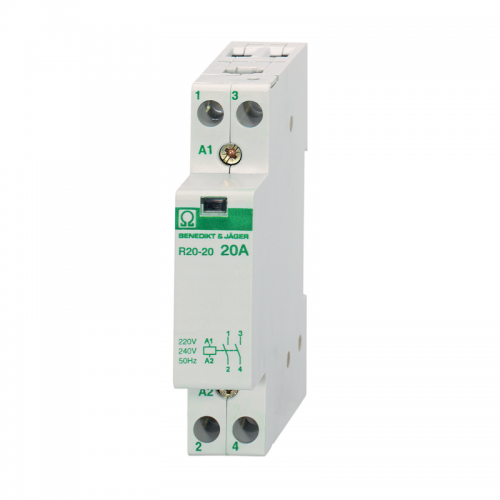 Benedikt and Jager R20-20 230 Modular Contactor MCB style