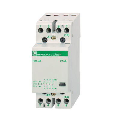 Benedikt and Jager R25-40 230 Modular Contactor MCB style