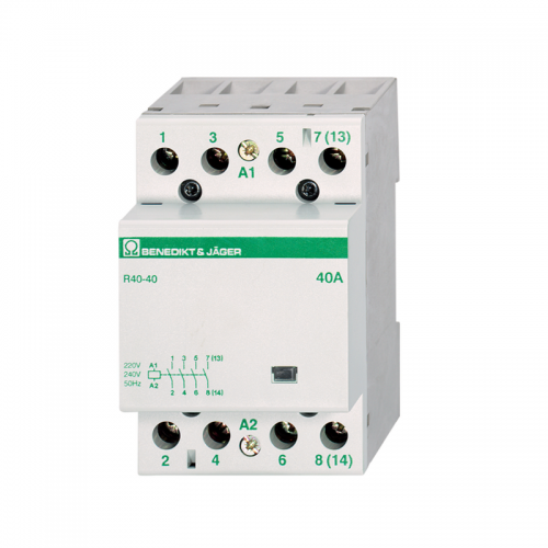 Benedikt and Jager R40-40 230 Modular Contactor MCB style