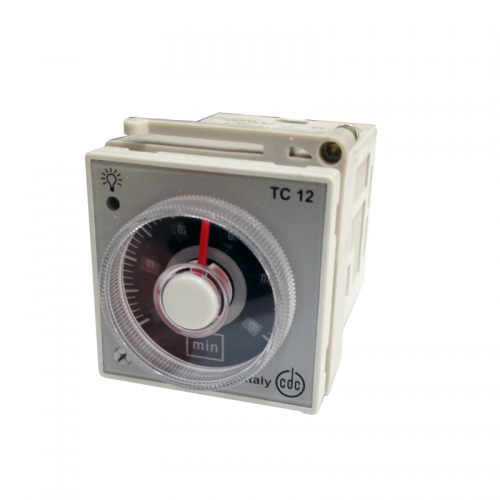 CDC TC12 Analog Timer, Plug-in, Panel Mounting