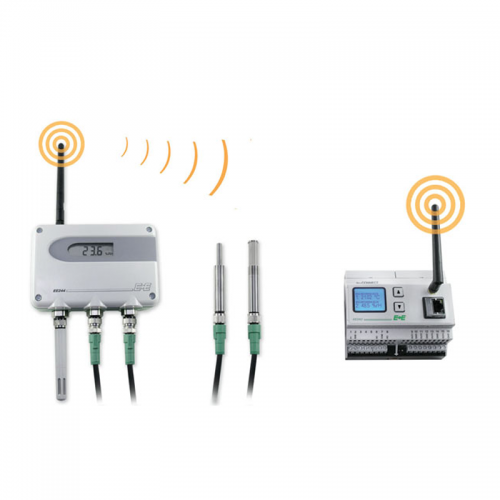 E+E Wireless Base Station and wireless transmitter