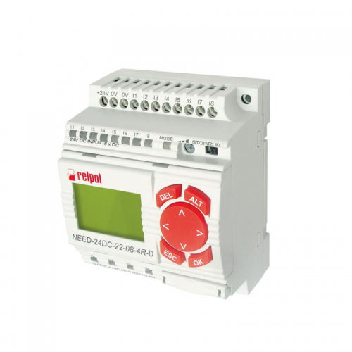 Relpol NEED 24DC 08 4R D Programmable Relay with 4 Relay Outputs