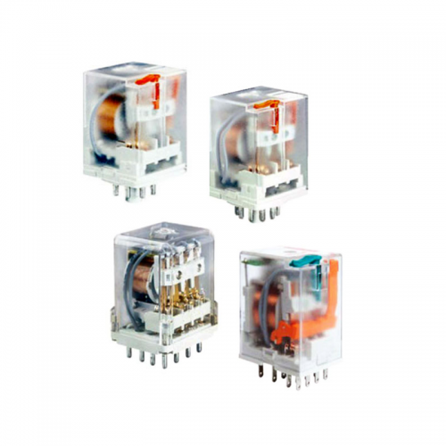 Relpol R2N and R4N Series Plug in Relays with Test buttons and LED's