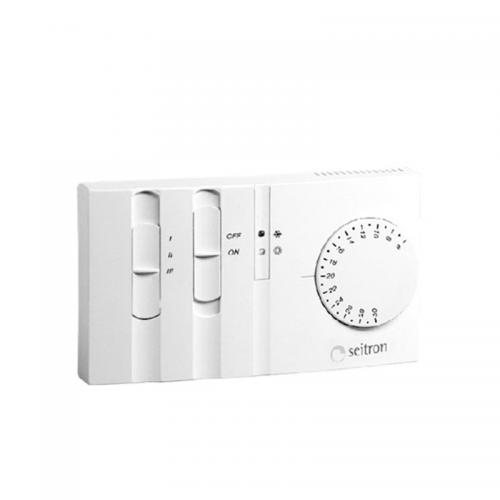 Seitron TFEZN4MC Thermostat with 3 speed fan switch