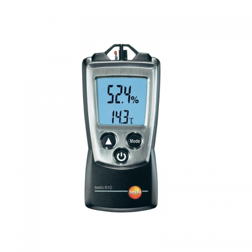 Testo 610 Pocketline Hygrometer for fast, precise measurement of temperature and humidity in indoor areas