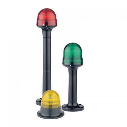 Texelco B180 Series Single Modular Beacons with Mounting Bases